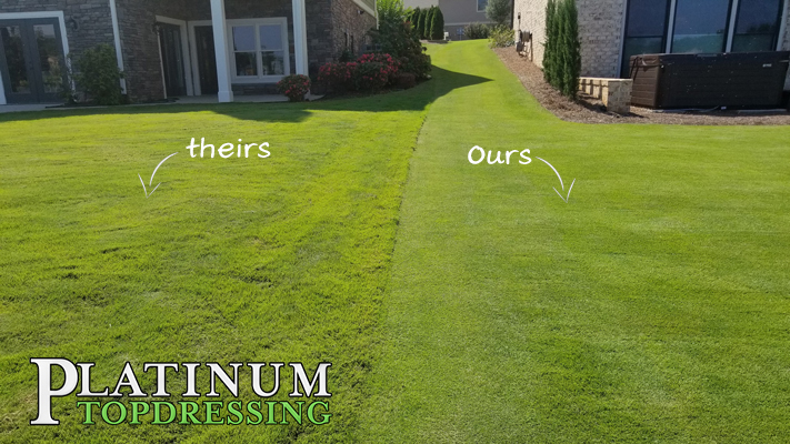 platinum topdressing versus the other guys
